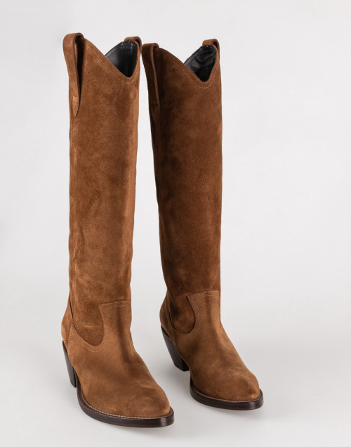 Camel suede texan boot