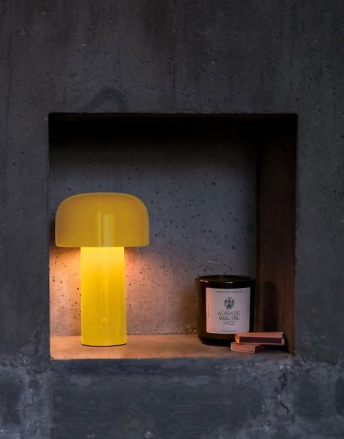 Yellow Bellhop lamp