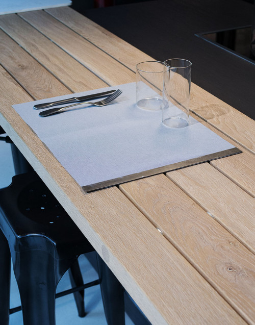Gray placemat with rod