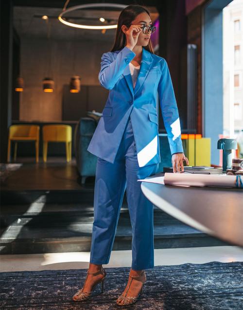 Pantalone azzurro in cotone