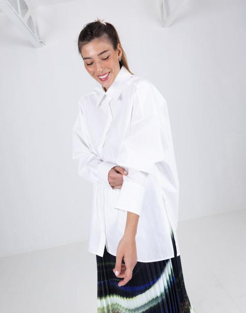 Camicia oversizes bianca in cotone