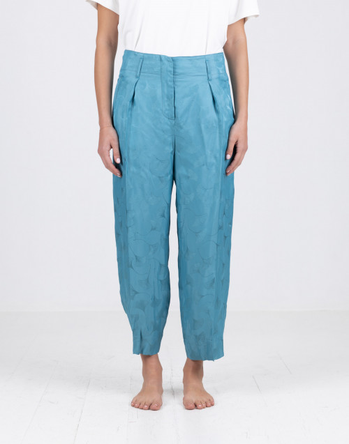 Light blue trousers in viscose