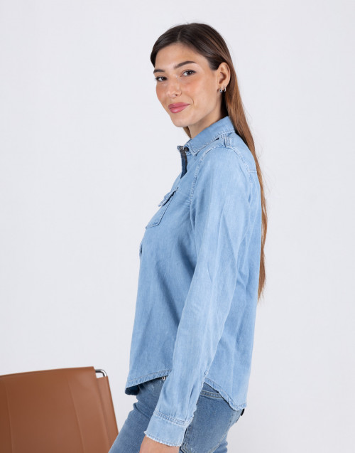 Naomi light denim shirt