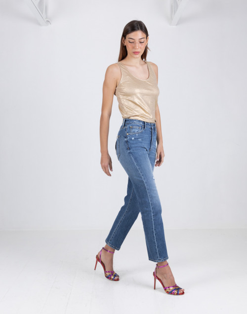 Jeans skinny in denim medio