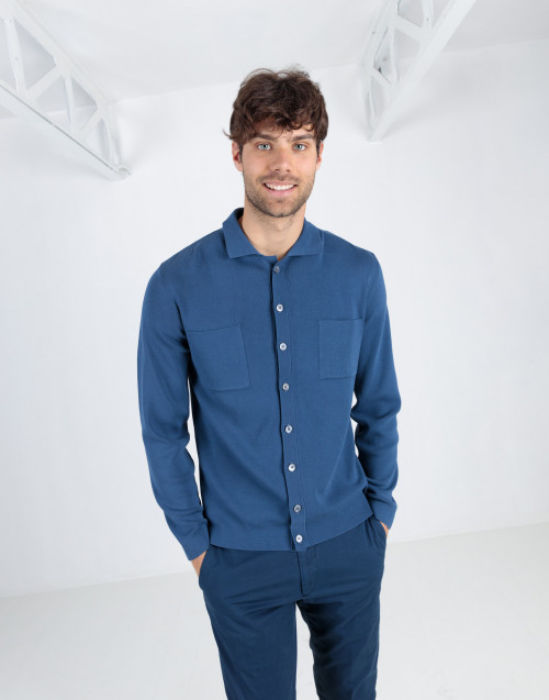 Avio color shirt jacket with pockets
