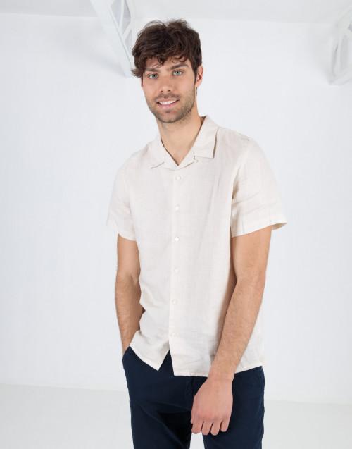 Ecru shirt with short sleeves