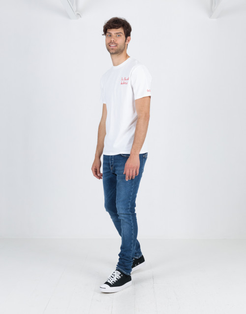 Jeans slim fit in denim medio
