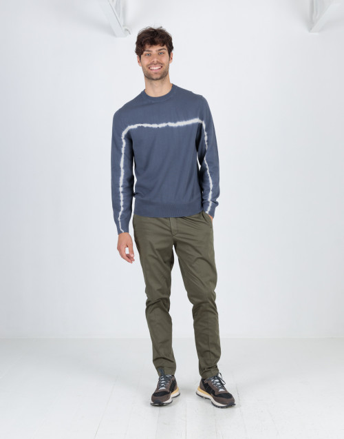 Military green chino trousers