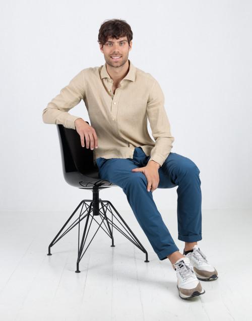 Blue cotton jogger trousers