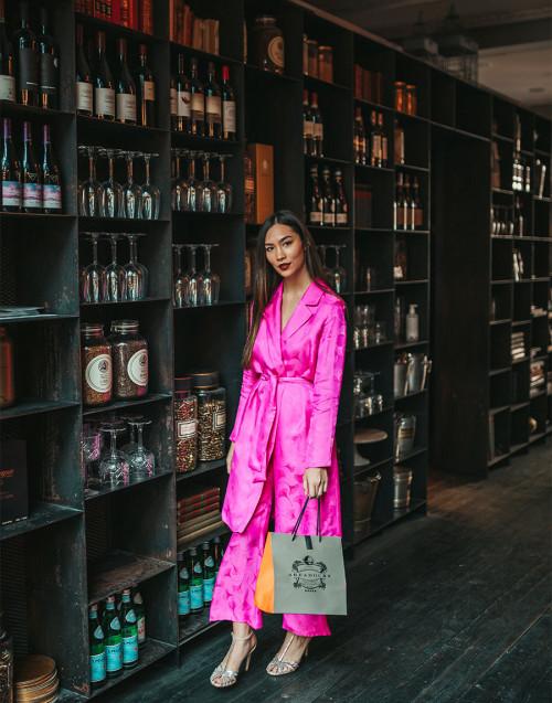 Fuchsia kimono in viscose