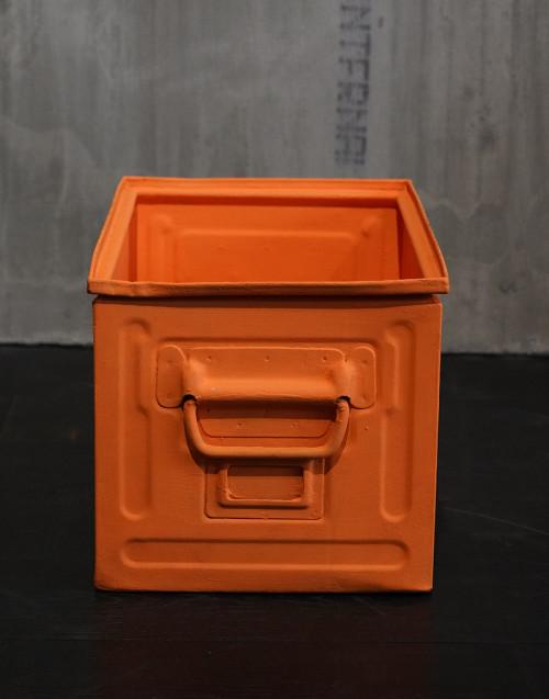 Metallic boxes repainted