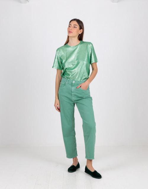 Green balloon jeans