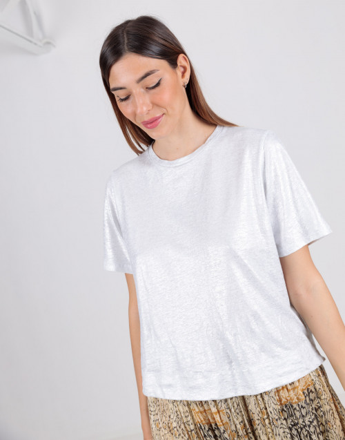 Green linen T-shirt
