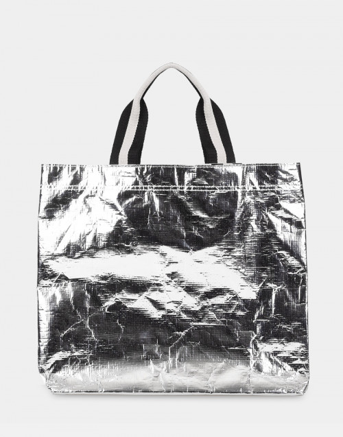 Silver shopping bag