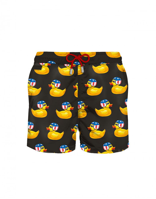 Macro ducks lighting swim shorts