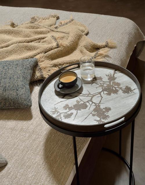 Medium round tray in Blossom wood