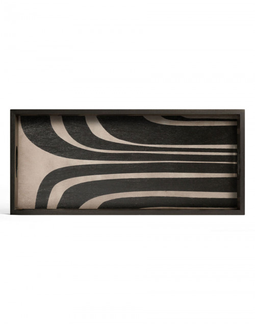 Large rectangular wooden tray