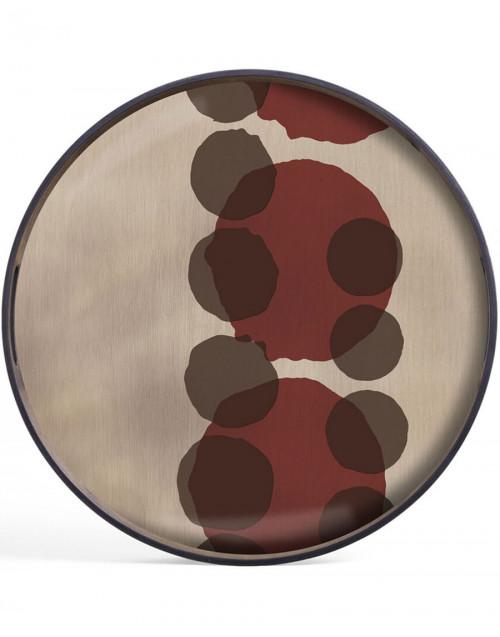 Medium Round Glass Tray Translucent Silhouettes