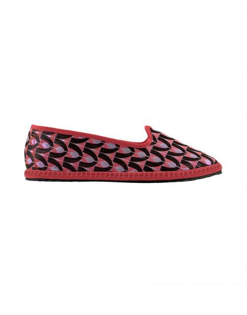 Pink brocade Aloisia slippers