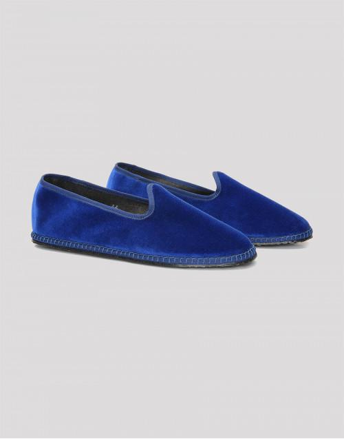 Blue II velvet slippers