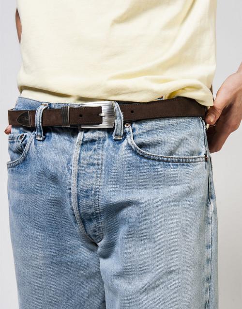 Rodeo belt in brown suede