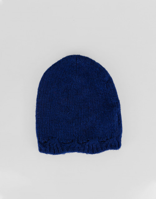 Cuffia Alpaca lana blu