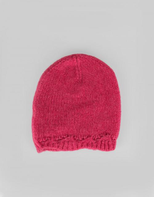 Cuffia Alpaca lana rosa