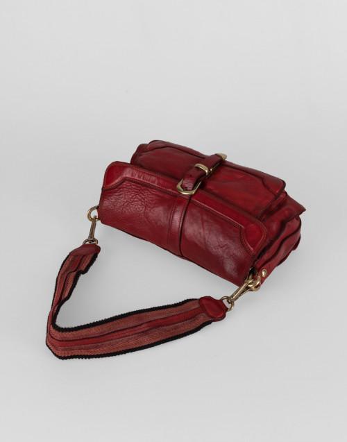 Medium cross body Agata bag in red leather