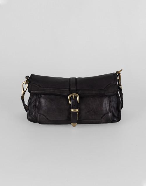 Medium cross body Agata bag in gray leather