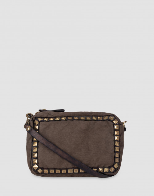 Borsa tracollina canvas borchie