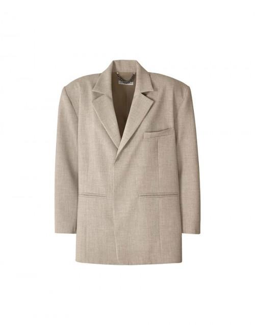 Oversized beige Costanza blazer