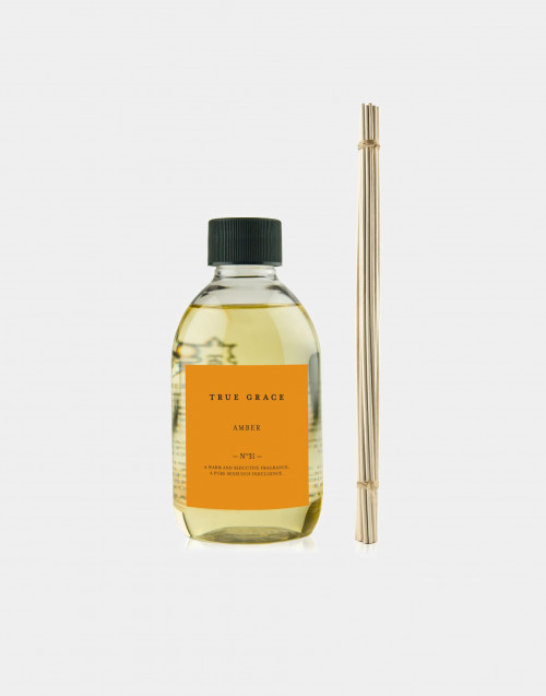 "True Grace Manor small reed diffuser, ""Amber"" fragrance"