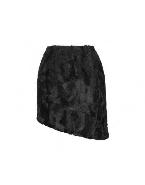 Black faux fur Dolores skirt