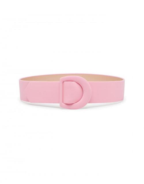 Pink fabric belt