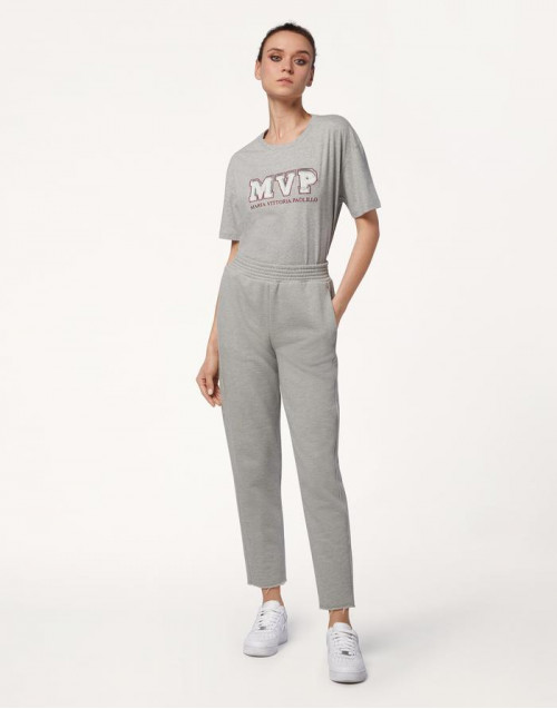 Pantalone felpato grigio Meghan