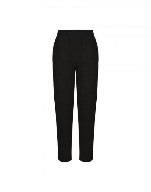 Pantalone felpato nero Meghan