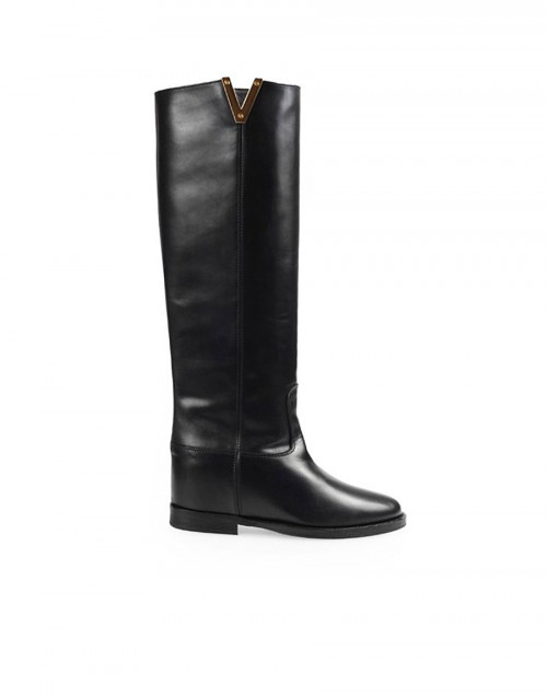 Black Saint Barth knee boots