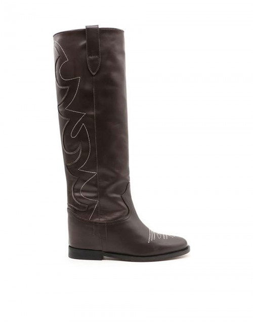Dark brown Malibu knee boots