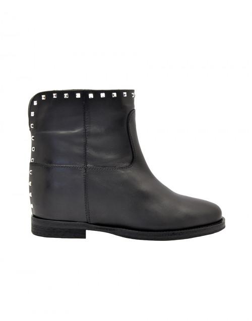 Black studded Malibu ankle boots