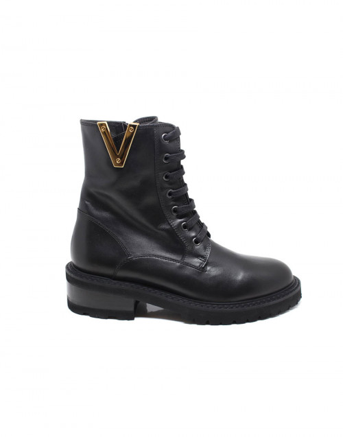 Black Saint Barth combat style boots