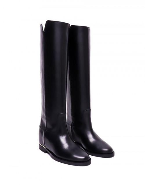 Black Saint Barth smooth knee boots