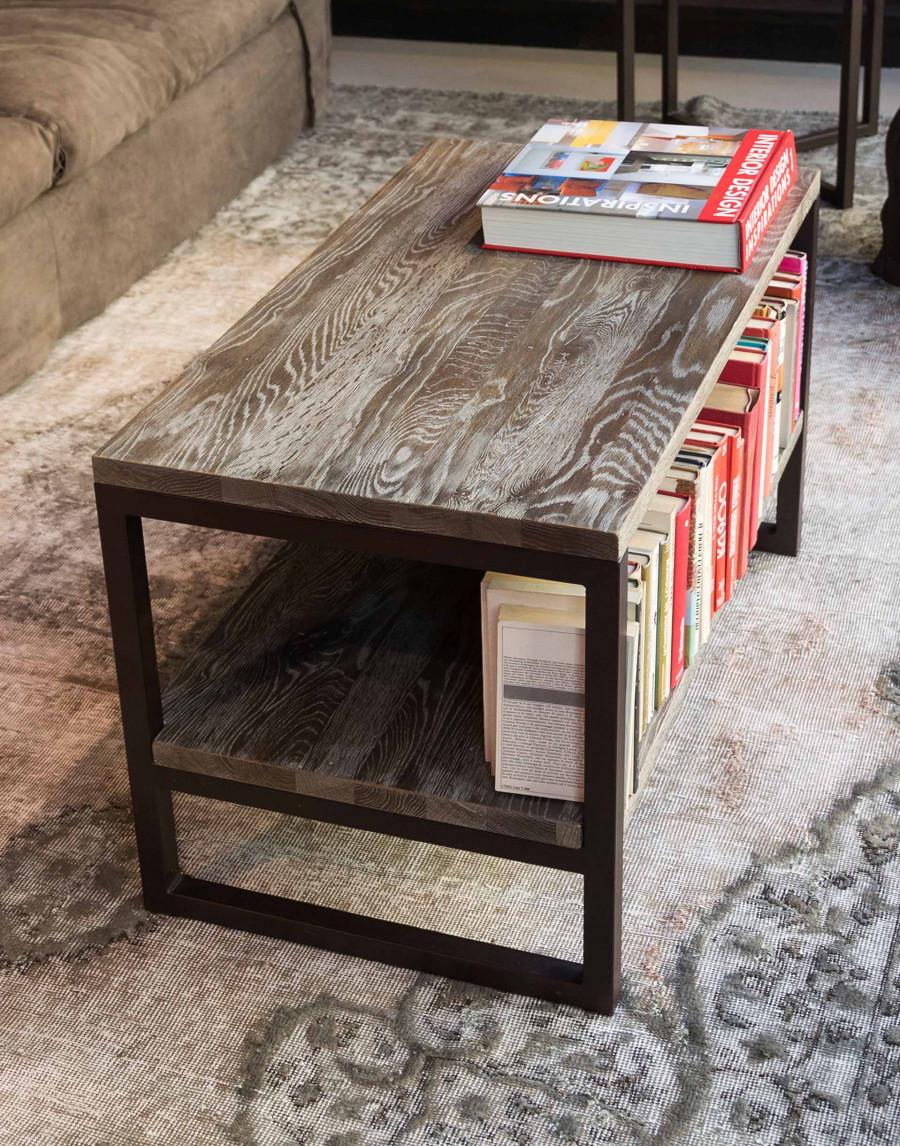 Tavolino Consolle Legno Metallo Marrone Blanc D\'Ivoire