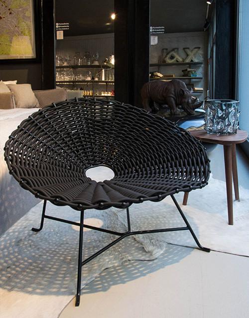 Poltrona Intrecciata Sweet 27 Nera Design Paola...