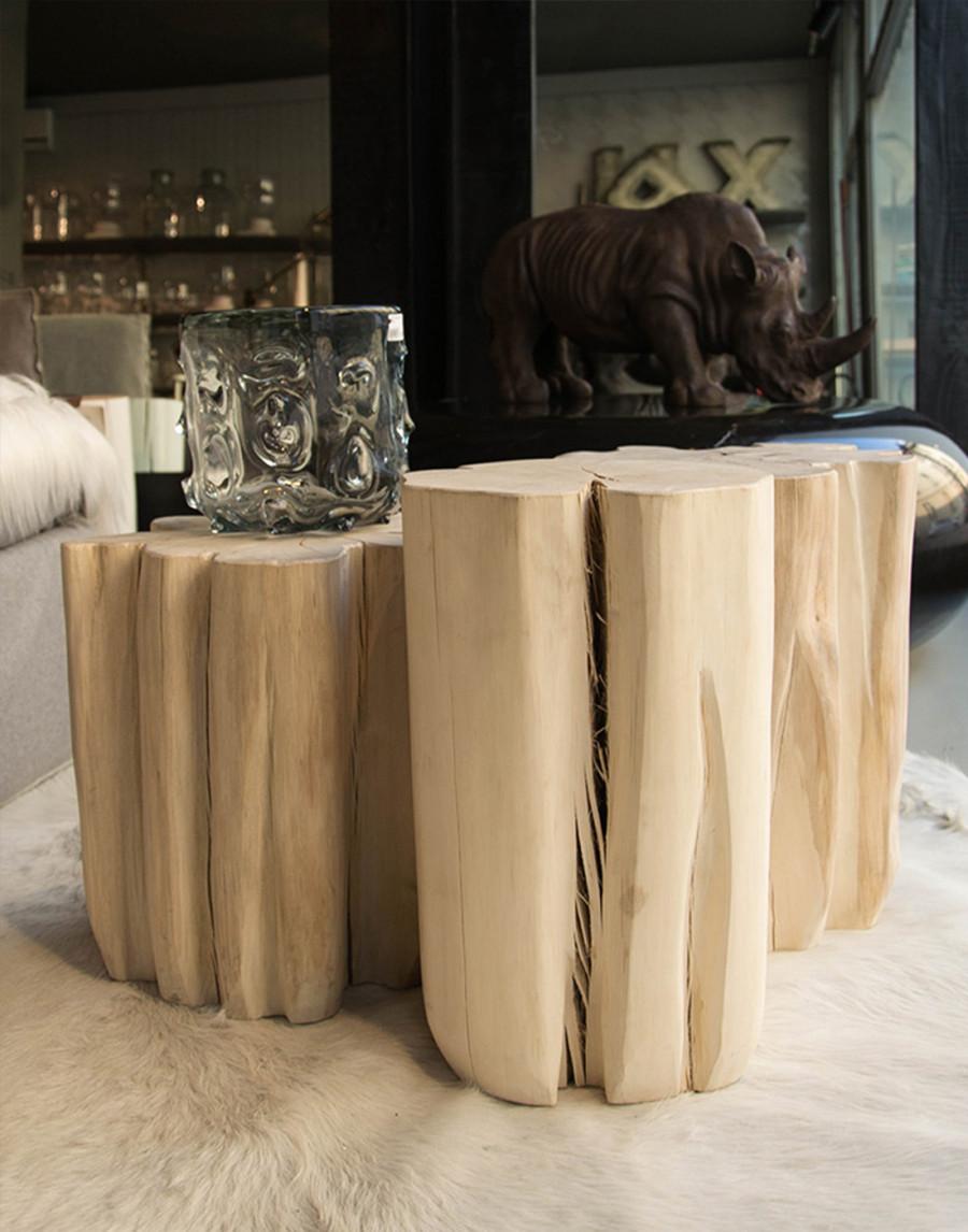 Tavolino Pouf Sezione Tronco Brick S Gervasoni