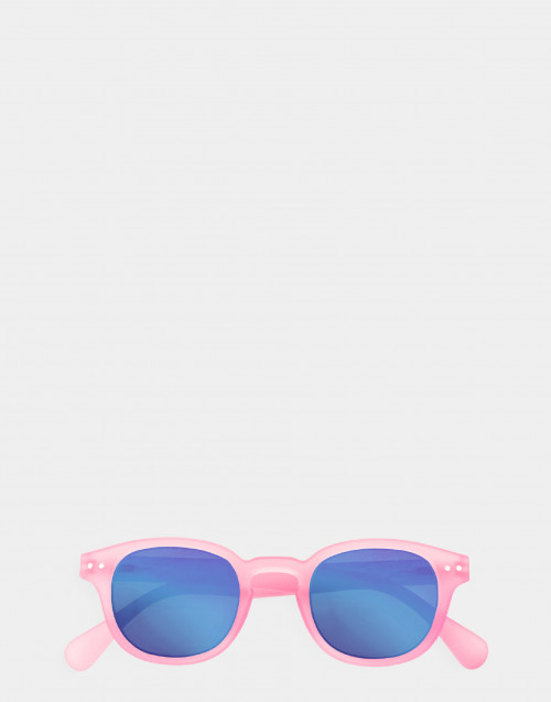 Junior mirror sunglasses pink thick frame