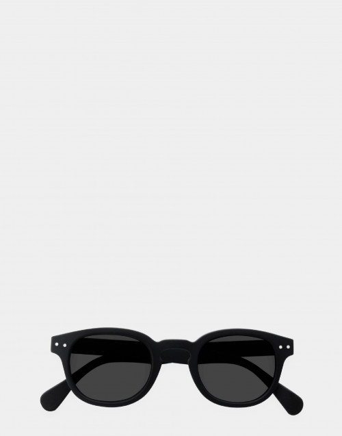 Junior mirror sunglasses black thick frame