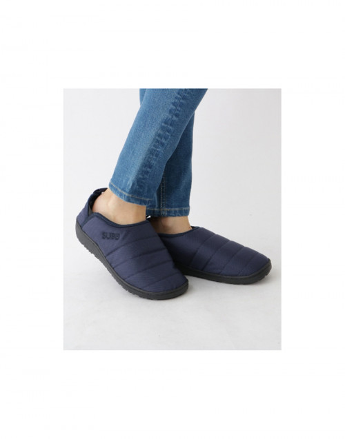 Blue padded indoor outdoor slippers