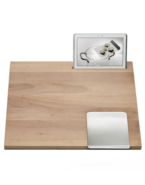 Worktop with ipad door