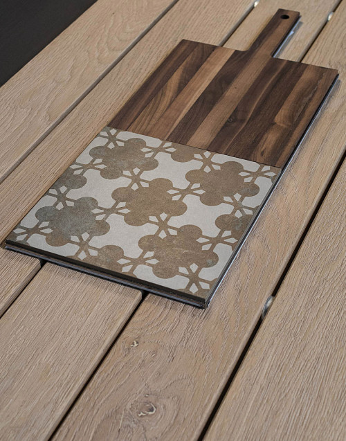 Brown ceramic cutting board