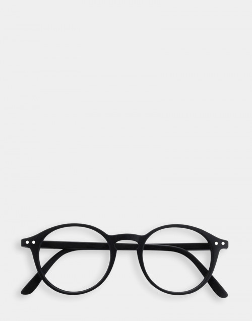 Reading glasses, soft black thin frame Mod. D